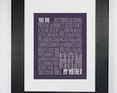 Mother Print Mother Love Mother Strength Mother Power Mother Typography Print