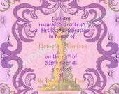 TANGLED RAPUNZEL inspired Invitation Fairytale Birthdays CUSTOM wording