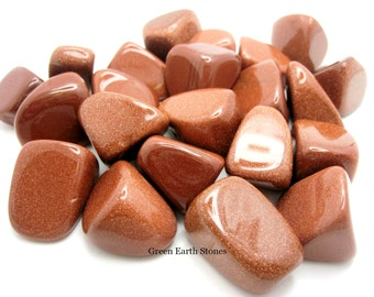 ONE XL Red Goldstone Tumbled Stone, Crystals, Feng Shui, Pagan, Metaphysical, Premium,