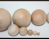 Unfinshed DIY Wooden Balls, Various Sizes, Games, Math, Waldorf Games, Decor, Solar System