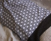 Big Black and White Dots Filled With Checks, Dots and Stripes, Contemporary Pillowcase, Charity Item, MadebyKids4Kids