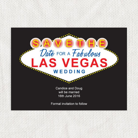 Las Vegas printable wedding save the date card - sign instant download editable casino destination usa america