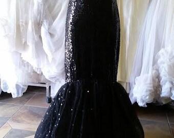 Black Sequin Dress Formal Evening Gown