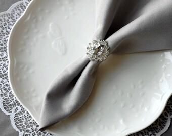 Wedding Napkin Ring Rhinestone Napkin Ring Crystal Napkin Ring Wedding Napkin Holder Wedding Table Decor Diamante NR001
