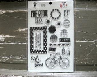 SUPPLY DESTASH - Fancy Pants - The Good Life - Acrylic Stamp Set