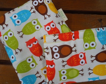 Reusable sandwich and/or snack bag - Night owls