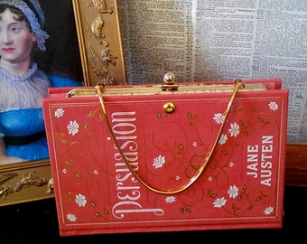 Book Clutch Persuasion by Jane Austen Literary Book Purse Made to Order