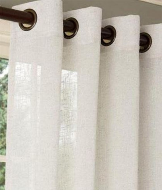 Pair Two 50W Panels Linen Blend Sheer By KirtamHomeCollection