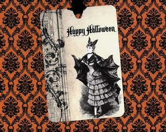 Halloween, Vintage Image, Happy Halloween, Tags, Party Favors, Trick or Treat