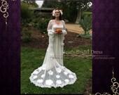 Whimsical Waterlilly Wedding Dress Medieval Inspired | Vintage Wedding Dress | Medieval Wedding Dress | Retro Wedding Dress