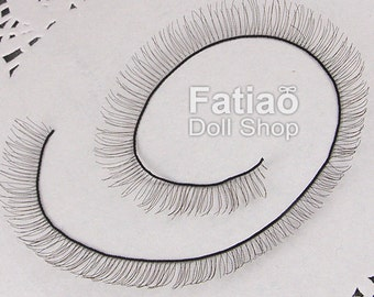 New BJD Dollfie Doll Eyelashes 8mm x 20cm - Black