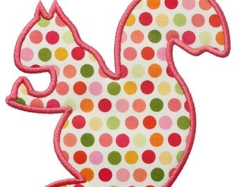 510 Squirrel Machine Embroidery Applique Design