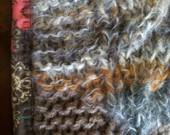 Cable Knit Carseat Afghan w Fur