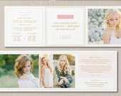Photography Pricing Template 5x5 Trifold Price List - Digital Pricing Guide - Senior Photo Marketing Set - Photographer Price List - g0016