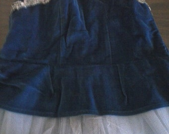 Girls 1960s ballet costume with velvet and tulle