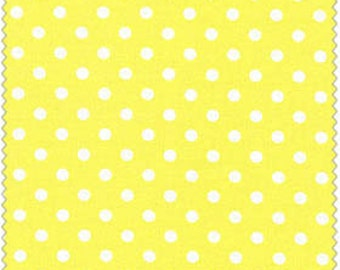 Crafty Cotton Yellow Dot Cotton Fabric 4270-4