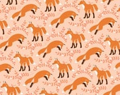 Michael Miller - Socks the Fox in Coral - By the Yard