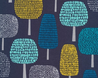 Cloud 9 Fabrics - First Light by Eloise Renouf - Glade in Navy Organic