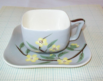 SALE - California Weil Ware Cup and Saucer, 1960s, serving, kitchen