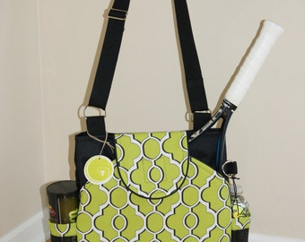 Little Sister to Large Tennis Bag with Rounded Pockets.- Made to Order.