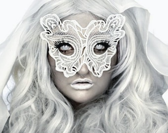 All about the boos embroidered white ghost mask