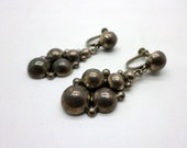 Vintage Mexican Silver Dangle Screw Back