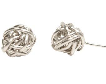 Sterling Silver Twisted Stud Earrings