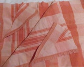 Cutter Blanket 68 W x 136 L Mid Century Pink Plaid, Shabby Cottage, Cabin Blanket