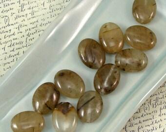 Rutilated Quartz 16mm Oval Beads 60% off, qty 11