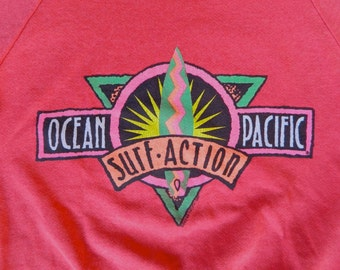 Ocean Pacific 1980s vintage Surf Action pullover sweatshirt - size small