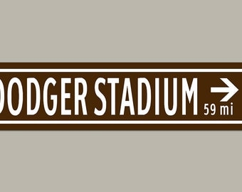 Custom Dodger Stadium Baseball Sign