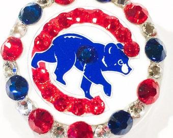 Chicago Cubs Swarovski Crystal Embellished ID Badge Reel