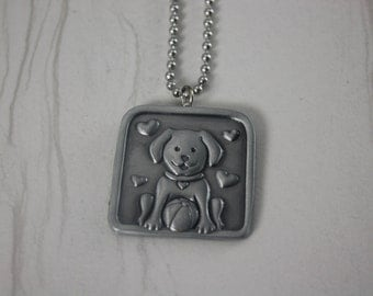 Cute Dog Charm Necklace