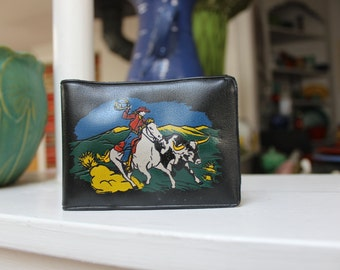 Cowboy Wallet Coin Purse Rodeo Souvenir Southwest VINTAGE by Plantdreaming