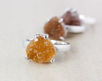 Ethereal Teardrop Druzy Ring Set - Choose Your Druzy - Sterling Silver