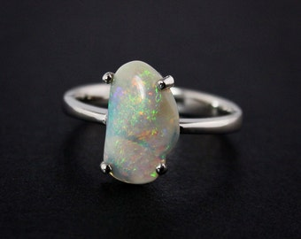 50% OFF SALE - Natural Opal Rings - Australian Opal - Free Form