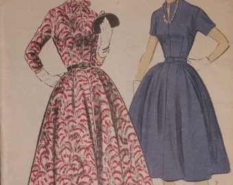 Vintage Bow-Tie Basic 1940's Dress Pattern