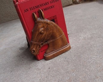 Vintage Bookends Book Ends Horses Home Decor Equestrian Brown