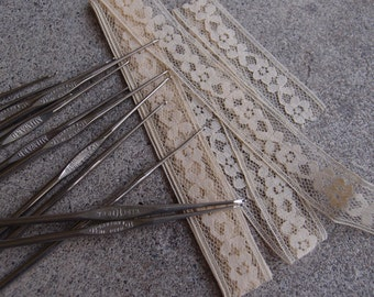 Vintage Crochet Hook Size 10 Lace Doily Making Supplies Stainless Steel