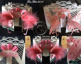 Flamingo Door Card