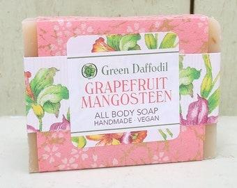 Grapefruit Mangosteen Bar of Soap - Green Daffodil