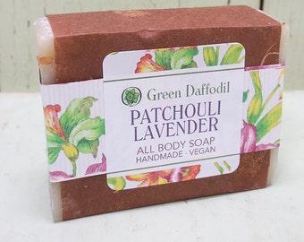 Patchouli Lavender Bar of Soap - Green Daffodil