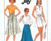 Simplicity 9109 - Vintage 80s Wrap Around Skirt Pattern UNCUT Jiffy