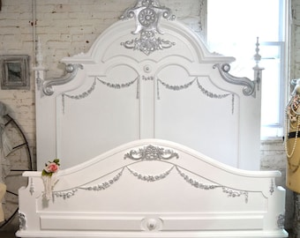 Painted Cottage Shabby French Romantic Queen / King Bed BD399