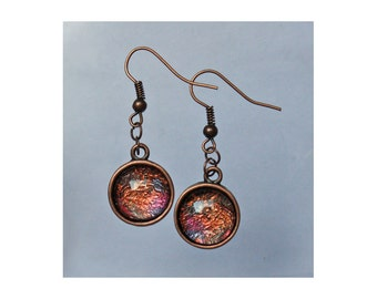 Safari Copper Pendant Earrings