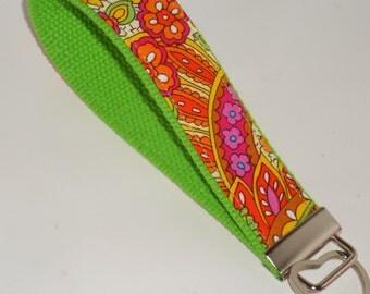 Wristlet Paisley Key Fob Key Chain Key Holder keychain