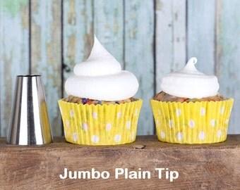 Jumbo Plain Frosting Tip, Jumbo Round Decorating Tube, Round Icing Nozzle, Frosting Tube, Jumbo Frosting Tip, Round Frosting Tip, Icing Tube