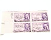 Scott No 946 Joseph Pulitzer Stamp Block of 4 Original 3c Vintage US Commemorative Postage Stamp  1947