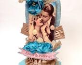 Wedding Cake Topper / Cake Topper / Bride & Groom Cake Topper
