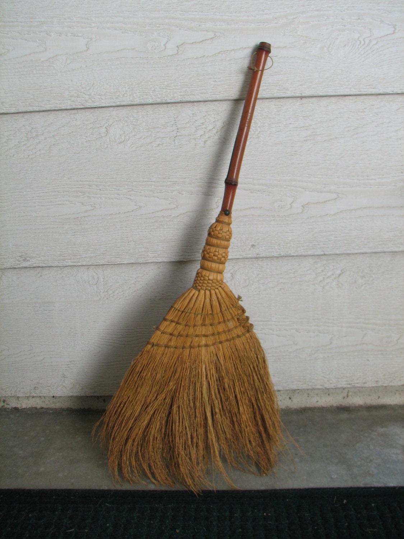 Vintage Straw Broom Americana Hearth Decor By Nanaandcompany
